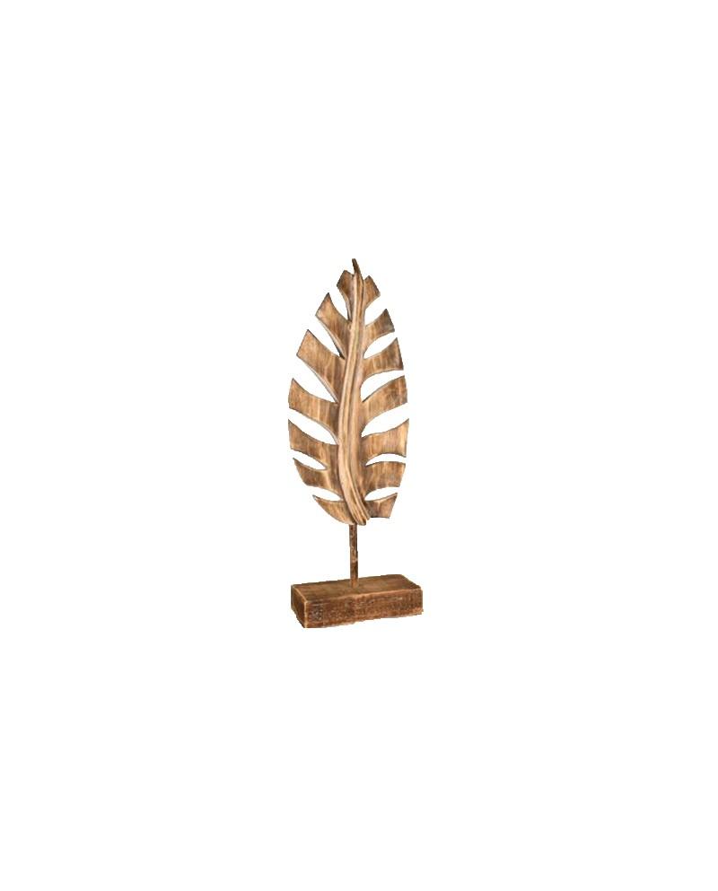 Woodart Houten Blad naturel 52 x 17 cm